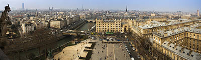 Notre Dame Photograph - Panorama Atop Notre Dame by Andrew Soundarajan
