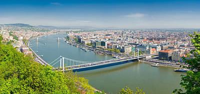 Photograph - Panorama Budapest Hungary by Matthias Hauser