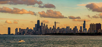 Photograph - Panorama Chicago Skyline From Montrose Beach by Patrice Bilesimo