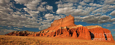 Photograph - Panorama Clouds Over Wild Horse Butte Goblin Valley Utah by Dave Welling