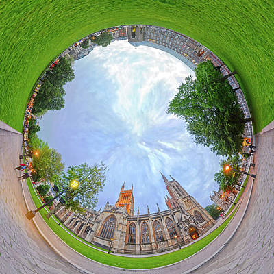 Photograph - Panorama College Green Bristol by Frans Blok
