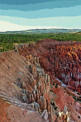 Painting - Panorama From The Bryce Canyon National Park by Andrea Mazzocchetti