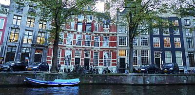 Photograph - Panorama From The Waterlevel. Amsterdam by Jouko Lehto