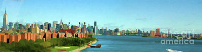 Photograph - Panorama Hudson River Nyc  by Chuck Kuhn