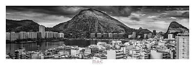 Photograph - Panorama-lagoa-bw by Carlos Mac