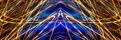 Photograph - Panorama Light Painting Abstract Ufa 2015 #1 by John Williams