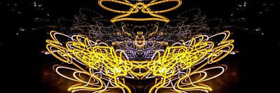 Photograph - Panorama Light Painting Abstract Ufa 2015 #3 by John Williams