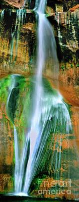 Photograph - Panorama Lower Calf Creek Falls Escalante Nm Utah by Dave Welling