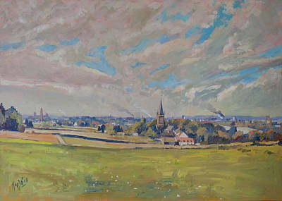 Painting - Panorama Maastricht by Nop Briex