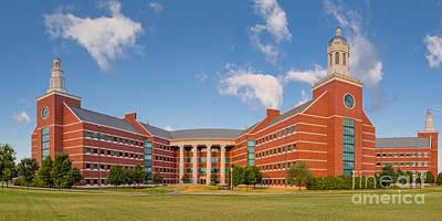Sustainable Design Photograph - Panorama Of Baylor University Sciences Building - Waco Texas by Silvio Ligutti