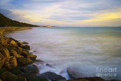Photograph - Panorama Of Cadiz Bay From Fuentebravia Breakwater Cadiz Spain by Pablo Avanzini