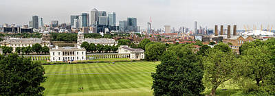 Photograph - Panorama Of Canary Wharf Skyline by Shirley Mitchell
