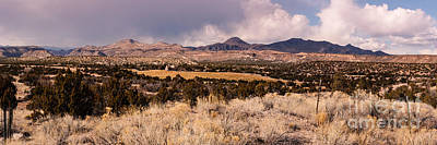 Kiva Photograph - Panorama Of Cochiti Lake Golf Club - Cochiti Pueblo Jemez Mountains New Mexico by Silvio Ligutti