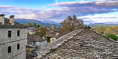 Photograph - Panorama Of Dilofo Village, Zagori, Greece by Global Light Photography - Nicole Leffer