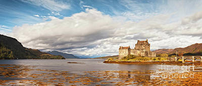 Panorama Of Eilean Donan Castle Scotland Art Print by Colin and Linda McKie