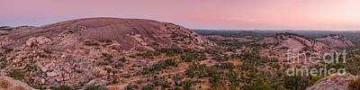 Photograph - Panorama Of Enchanted Rock And Freshman Mountain From Turkey Peak At Dawn -texas Hill Country by Silvio Ligutti
