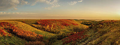 Photograph - Panorama Of Fall Colors In The Flint Hills by Scott Bean