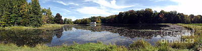 Photograph - Panorama Of Flattail Lake At Reinstein Woods Nature Preserve In New York State by Rose Santuci-Sofranko
