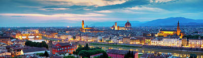 Photograph - Panorama Of Florence by Fabrizio Troiani