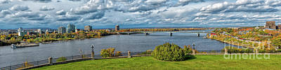 Gatineau Photograph - Panorama Of Gatineau, Quebec And Ottawa, Ontario Looking East On The Ottawa River by Robert McAlpine
