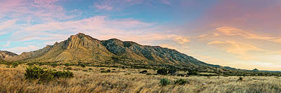 Photograph - Panorama Of Hunter Peak And Frijole Ridge At Guadalupe Mountains National Park - West Texas by Silvio Ligutti