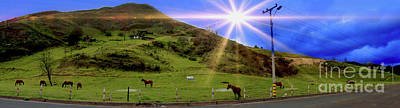 Photograph - Panorama Of Horses Near Nabon by Al Bourassa