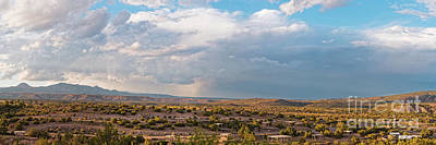 Photograph - Panorama Of Jemez Mountains And Cochiti Lake Recreation Area - Cochiti Pueblo New Mexico by Silvio Ligutti
