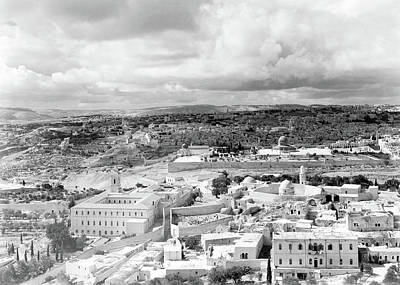 Photograph - Panorama Of Jerusalem 1942 by Munir Alawi