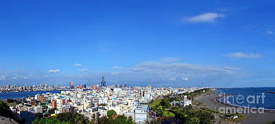 Photograph - Panorama Of Kaohsiung City Sjyline And Port by Yali Shi