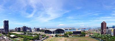 Photograph - Panorama Of Kaohsiung Port by Yali Shi