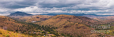 Photograph - Panorama Of Keesey And Limpia Canyon And Indian Lodge At Davis Mountains State Park - West Texas  by Silvio Ligutti