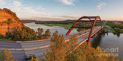 Photograph - Panorama Of Lake Austin And Texas Hill Country From Highway 360 Overlook - Austin Texas by Silvio Ligutti