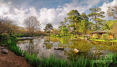 Photograph - Panorama Of Late Afternoon At The Houston Japanese Garden In Hermann Park - Houston Texas by Silvio Ligutti