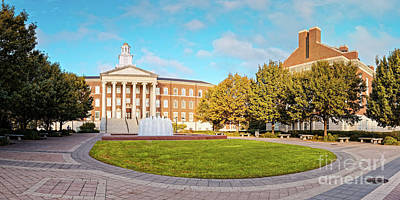 Photograph - Panorama Of Laura Lee Blanton Building At Southern Methodist University - Dallas Texas by Silvio Ligutti