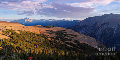 Big Thompson River Photograph - Panorama Of Longs Peak And Continental Divide From Trail Ridge Road - Estes Park Rocky Mountains  by Silvio Ligutti