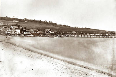 Photograph - Panorama Of Monterey.  By C. E. Watkins Circa 1882 by California Views Mr Pat Hathaway Archives