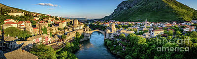 Photograph - Panorama Of Mostar, Bosnia And Herzegovina by Global Light Photography - Nicole Leffer
