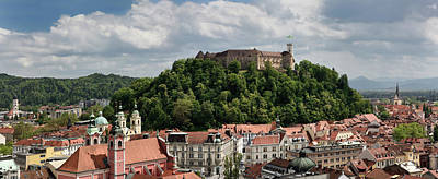 Photograph - Panorama Of Old Town Of Lubljana Slovenia From The Skyscraper Of by Reimar Gaertner