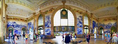 Photograph - Panorama Of Oporto Train Station by David Smith