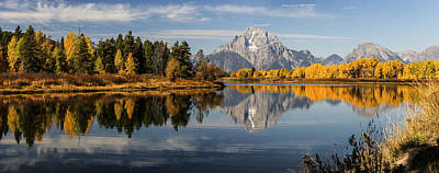 Photograph - Panorama Of Oxbow Bend Autumn In Gtnp by Vishwanath Bhat