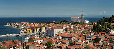 Photograph - Panorama Of Piran Slovenia On Gulf Of Trieste Adriatic Sea From  by Reimar Gaertner