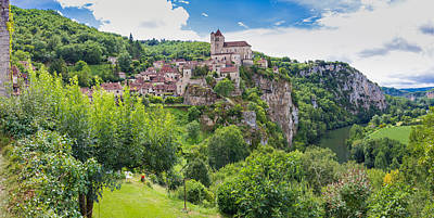 Photograph - Panorama Of Saint Circ Lapopie In France by Semmick Photo