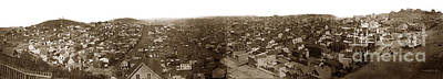 Photograph - Panorama Of San Francisco Copy By T.e. Hecht From An 1855 Image by California Views Mr Pat Hathaway Archives