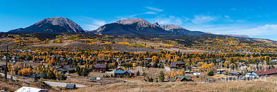 Gore Range Photograph - Panorama Of Silverthorne In The Fall - White River National Forest - Rocky Mountains - Colorado by Silvio Ligutti