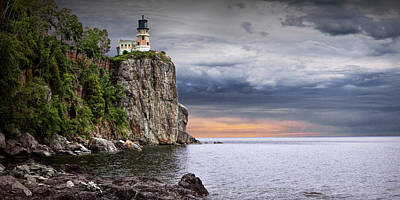 Photograph - Panorama Of Split Rock Lighthouse At Sunrise by Randall Nyhof
