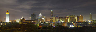Skylines Royalty-Free and Rights-Managed Images - Panorama of the Austin Skyline on a September Morning by Rob Greebon