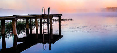 Photograph - Panorama Of The Dock At Dawn by Shelby Young