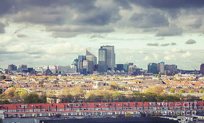 Art Print featuring the photograph panorama of the Hague modern city by Ariadna De Raadt