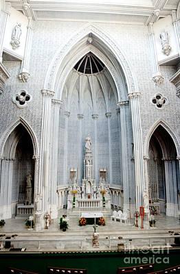 Panorama Of The Main Altar Of St. John The Evangalist Roman Catholic Church Schenectady Art Print