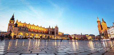 Photograph - Panorama Of The Main Old Town Market Of Cracow by Michal Bednarek